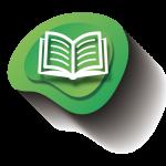 l'icona di un libro aperto con sfondo verde